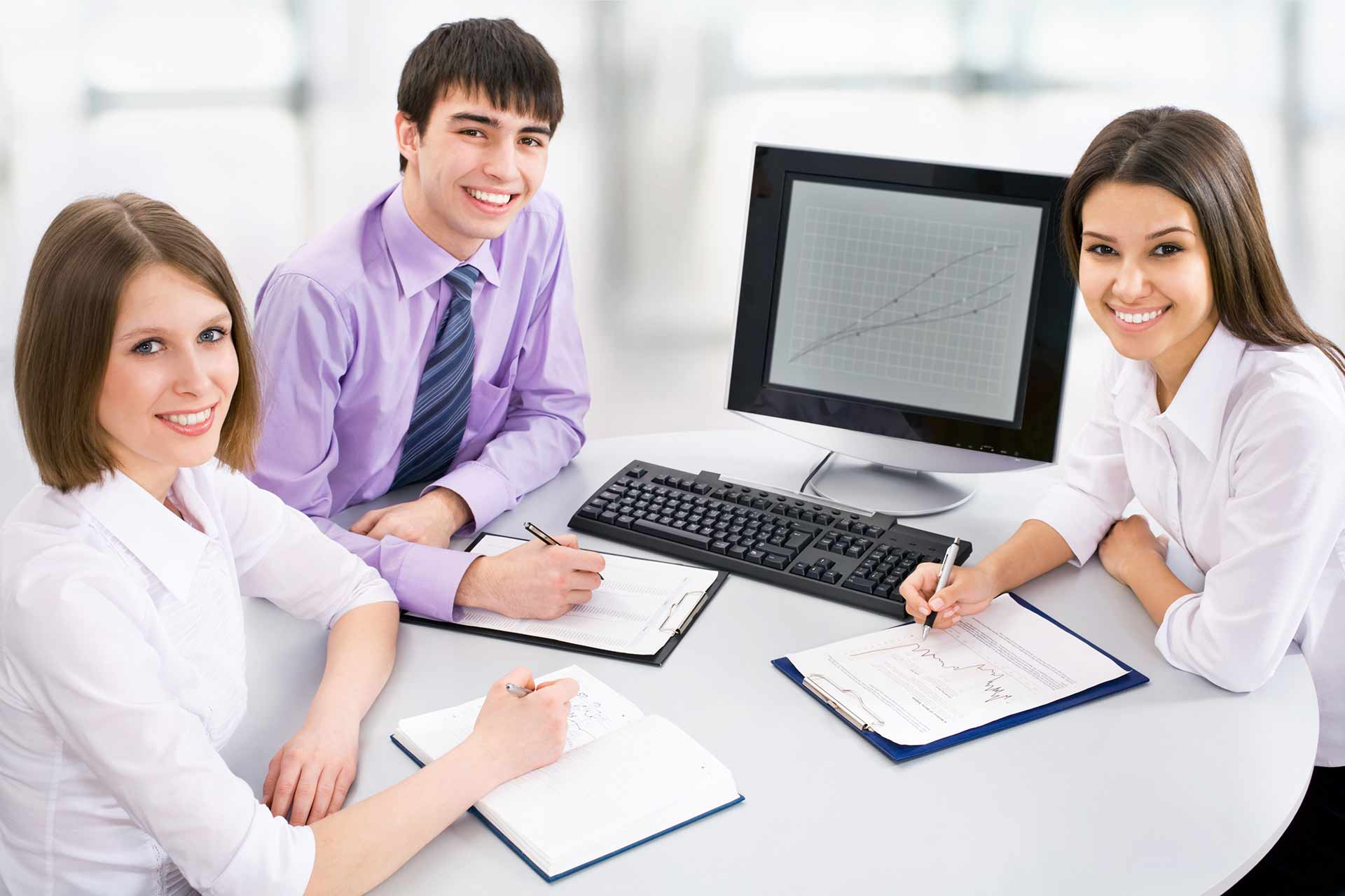 post single image Post Single Image Young business people are working together at office
